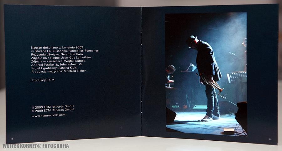 """Dark Eyes"" Tomasz Stańko kwintet – CDbooklet by Wojtek Kornet"